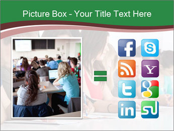 Portrait of smiling college student PowerPoint Template - Slide 21