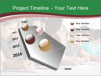 Portrait of smiling college student PowerPoint Template - Slide 26