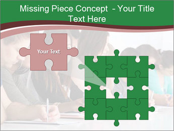 Portrait of smiling college student PowerPoint Template - Slide 45