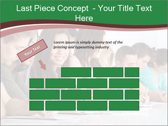 Portrait of smiling college student PowerPoint Template - Slide 46