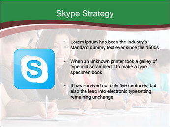 Portrait of smiling college student PowerPoint Template - Slide 8