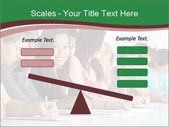Portrait of smiling college student PowerPoint Template - Slide 89