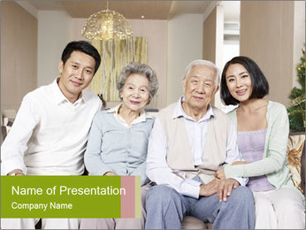 Home portrait PowerPoint Template