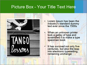 Bright colors of Caminito street PowerPoint Template - Slide 13