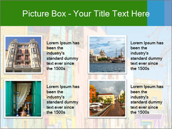 Bright colors of Caminito street PowerPoint Template - Slide 14