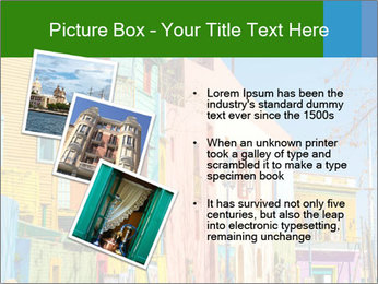 Bright colors of Caminito street PowerPoint Template - Slide 17