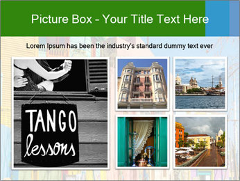 Bright colors of Caminito street PowerPoint Template - Slide 19