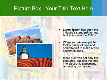Bright colors of Caminito street PowerPoint Template - Slide 20