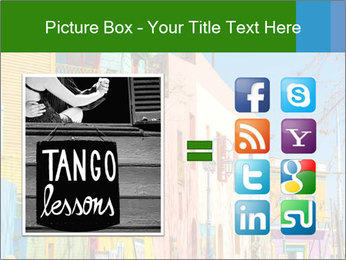 Bright colors of Caminito street PowerPoint Template - Slide 21
