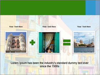 Bright colors of Caminito street PowerPoint Template - Slide 22