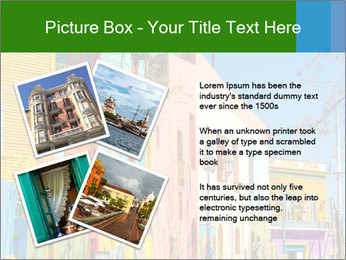 Bright colors of Caminito street PowerPoint Template - Slide 23