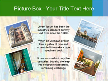 Bright colors of Caminito street PowerPoint Template - Slide 24