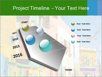 Bright colors of Caminito street PowerPoint Template - Slide 26