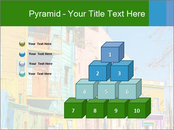 Bright colors of Caminito street PowerPoint Template - Slide 31