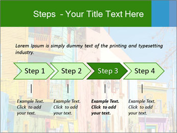 Bright colors of Caminito street PowerPoint Template - Slide 4