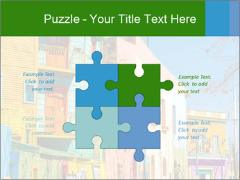 Bright colors of Caminito street PowerPoint Template - Slide 43