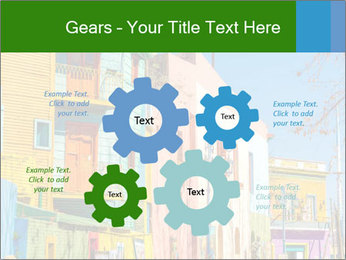 Bright colors of Caminito street PowerPoint Template - Slide 47