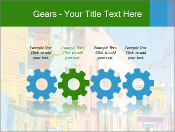 Bright colors of Caminito street PowerPoint Template - Slide 48