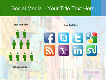 Bright colors of Caminito street PowerPoint Template - Slide 5