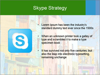 Bright colors of Caminito street PowerPoint Template - Slide 8