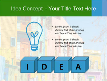 Bright colors of Caminito street PowerPoint Template - Slide 80