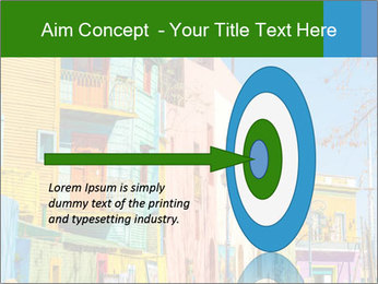 Bright colors of Caminito street PowerPoint Template - Slide 83