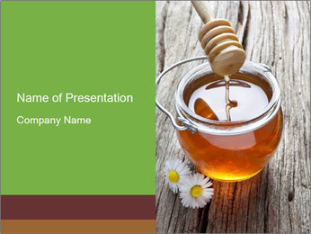 Honey falling PowerPoint Template