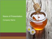 Honey falling PowerPoint Templates