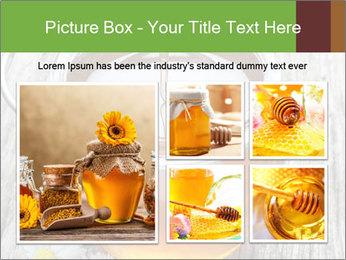 Honey falling PowerPoint Template - Slide 19