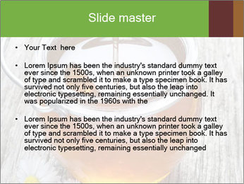 Honey falling PowerPoint Template - Slide 2