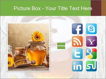 Honey falling PowerPoint Template - Slide 21
