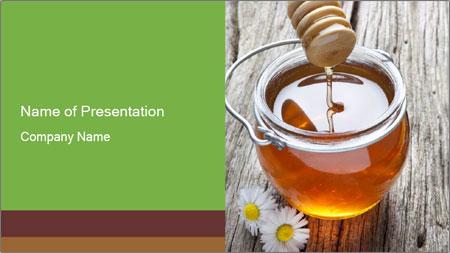 Honey falling PowerPoint Template