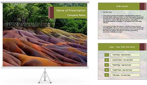 Mauritius island PowerPoint Template