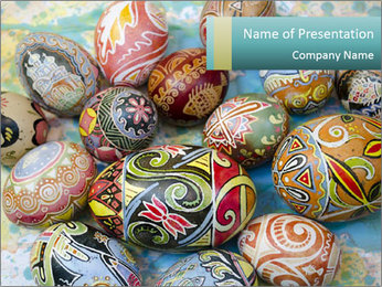 Ukrainian Easter egg PowerPoint Template - Slide 1