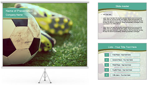 Football shoes PowerPoint Template
