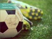 Football shoes PowerPoint Templates