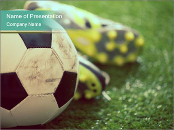 Football shoes PowerPoint Templates - Slide 1