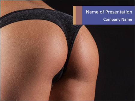 Perfect bum PowerPoint Template