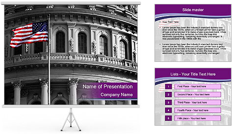 American Governmental Building PowerPoint Template