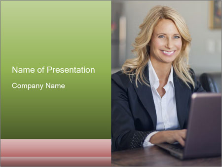Blond Businesswoman PowerPoint Template