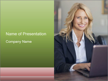 Blond Businesswoman PowerPoint Templates - Slide 1