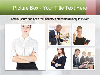 Blond Businesswoman PowerPoint Template - Slide 19