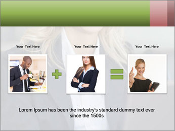 Blond Businesswoman PowerPoint Templates - Slide 22