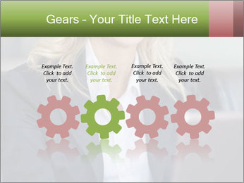 Blond Businesswoman PowerPoint Template - Slide 48