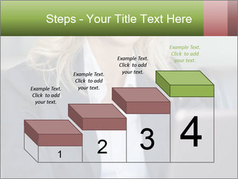 Blond Businesswoman PowerPoint Template - Slide 64