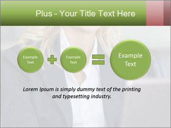 Blond Businesswoman PowerPoint Templates - Slide 75