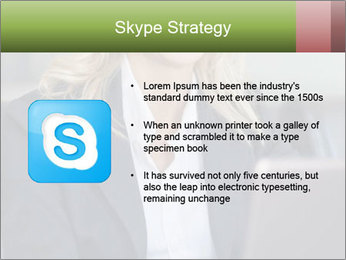 Blond Businesswoman PowerPoint Template - Slide 8