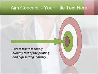 Blond Businesswoman PowerPoint Template - Slide 83