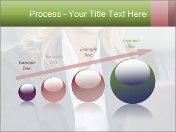 Blond Businesswoman PowerPoint Templates - Slide 87
