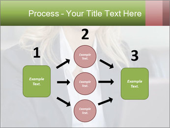 Blond Businesswoman PowerPoint Template - Slide 92